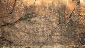 Site indigène de gravure de gorge de chambres. Au du sud photo libre de droits