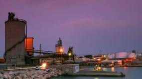 Site industriel à Le Pirée Photo libre de droits