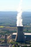 Site industriel dans l'énergie nucléaire Images stock
