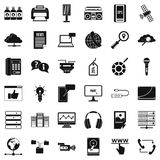 Site Information Icons Set, Simple Style Stock Images