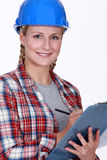 Site inspector Royalty Free Stock Photo