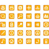 Site-Internet-Ikonenset Lizenzfreies Stockbild