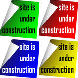 Site ist im Bau Stockbild