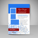 Site layout for design - flyer Royalty Free Stock Image