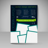 Site layout for design - flyer Royalty Free Stock Photos