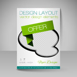 Site layout for design - flyer Stock Photography