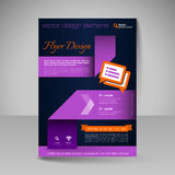 Site layout for design - flyer Stock Image