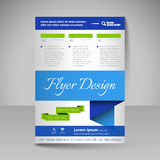 Site layout for design - flyer Royalty Free Stock Images