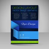 Site layout for design - flyer Stock Photo