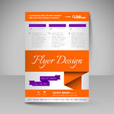 Site layout for design - flyer Royalty Free Stock Photography