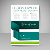 Site layout for design - flyer Stock Photos