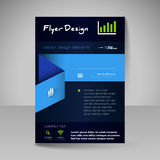 Site layout for design - flyer Stock Images