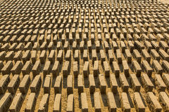 On-site local Brick Factory. A survey found 74 kilns in the Bhaktapur district of KTM. Royalty Free Stock Images