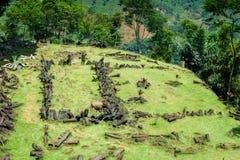 Site mégalithique de Gunung Padang dans Cianjur, Java occidental, Indonésie Photo libre de droits