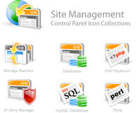 Site-Managementikonen Stockfoto