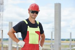 Site manager at construction area Stock Photo