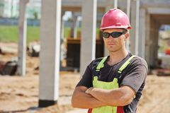 Site manager at construction area Royalty Free Stock Photos