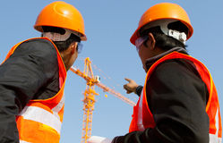 Free Site Manager With Safety Vest Stock Photography - 30253452