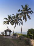 Site for meditations  on the edge of the rock over the ocean, Kerala, India Stock Image