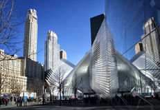Site of the memorial of ground zero in New York Stock Photo