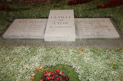 Site in the memory of died for France in Lyon Royalty Free Stock Photography