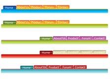 Site menu Stock Image