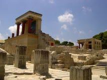Site minoan Crète de Knossos Image libre de droits