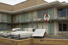 Site of MLK Assassination. National Civil Rights Museum located in the old Lorraine Motel, site of the Martin Luther King, Jr assassination, in Memphis TN Stock Photography
