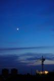 Site at night. China hunan zhuzhou site at night Stock Image