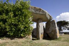 Site néolithique, la Bretagne Images stock