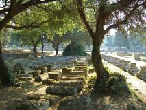 Site of Olympia in Greece. Archeological site of Olympia in Greece