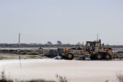 Site operating sea salt saline Aigues-Mortes Stock Image