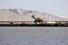 Site operating sea salt saline Aigues-Mortes Stock Photos