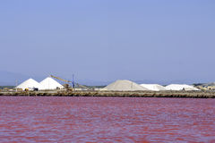Site operating sea salt saline Aigues-Mortes Stock Photography