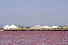 Site operating sea salt saline Aigues-Mortes Royalty Free Stock Photography