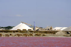 Site operating sea salt saline Aigues-Mortes Royalty Free Stock Image