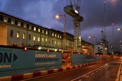 Site Paddington Londres de Crossrail Photographie stock libre de droits