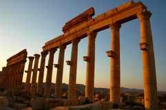 Site of Palmyra Syria Stock Image