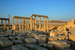 Site of Palmyra Syria Stock Photo