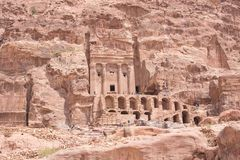 Site Petra Aqba Jordan de tombe d'urne photos libres de droits
