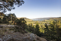 Site of Pictish Hillfort at Craigmony in the Highlands of Scotland. Royalty Free Stock Photos