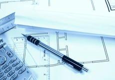 Site-Pläne Stockfoto