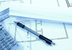 Site Plans Stock Photo
