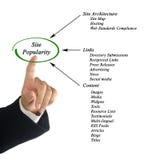 Site Popularity. Presenting diagram of Site Popularity Stock Photos