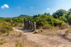 Site préhistorique oublié dans les collines de la Corse - 5 Photographie stock