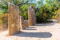 Site préhistorique oublié dans les collines de la Corse - 4 Photo stock