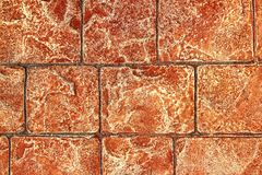 On-site printed concrete cement pavement texture Royalty Free Stock Images