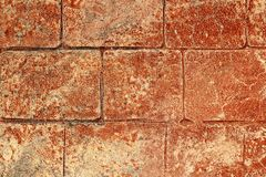 On-site printed concrete cement pavement texture Stock Photo