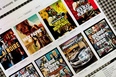 Site Rockstar Games. Images libres de droits