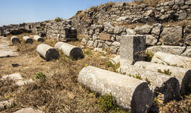 Site of Roman Baths at Anient Thira, Santorini Stock Photography